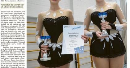 Pferseerinnen qualifizieren sich für Deutsche Meisterschaft in der rhythmischen Gymnastik